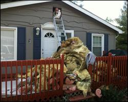 Contaminated attic insulation replacement